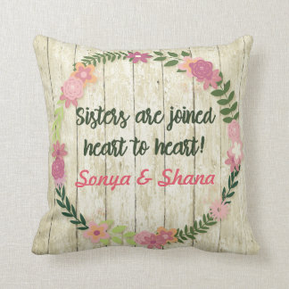 Sister Gift with Quote Pillow Personalised Present