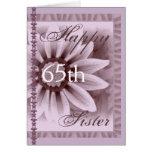 SISTER  - Happy 65th Birthday - LAVENDER Daisy Cards