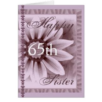 SISTER  - Happy 65th Birthday - LAVENDER Daisy Card