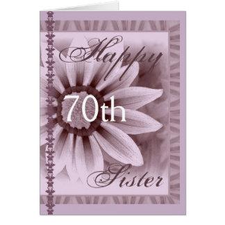 SISTER  - Happy 70th Birthday - LAVENDER Flower Card