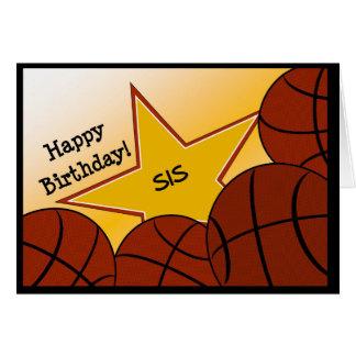 Sister - Happy Birthday Basketball Loving Sis! Card