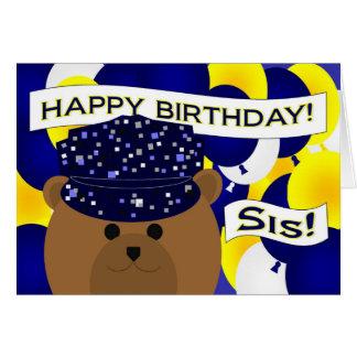 Sister - Happy Birthday Navy Active Duty! Greeting Card