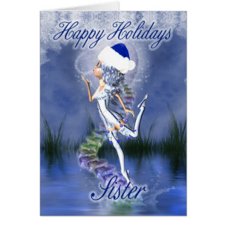 Sister - Happy Holidays - Christmas Card - Frost F
