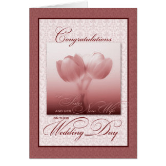 Sister & her New Wife Wedding Congratulations Greeting Cards