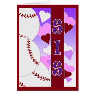 Sister - I Love You More Than Baseball Card