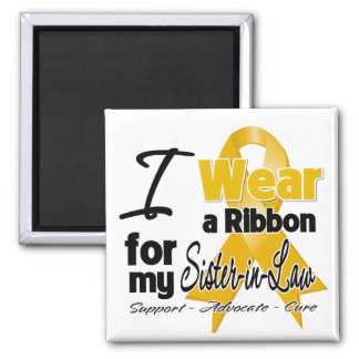 Sister-in-Law - Appendix Cancer Ribbon Refrigerator Magnet