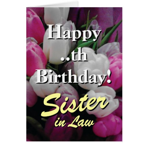 Sister in law Birthday card | pink flower bouquet