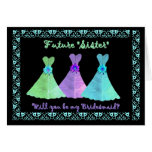SISTER-in-LAW Bridesmaid Blue Green Purple Gowns