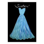 SISTER-in-LAW Bridesmaid TURQUOISE BLUE Dress