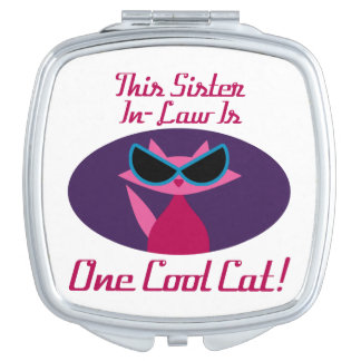 Sister-In-Law Cool Cat Mirror For Makeup