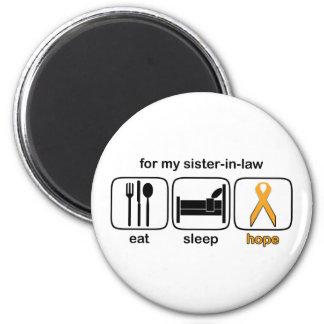 Sister-in-law Eat Sleep Hope - Leukemia Magnets