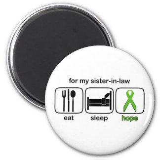Sister-in-law Eat Sleep Hope - Lymphoma 6 Cm Round Magnet