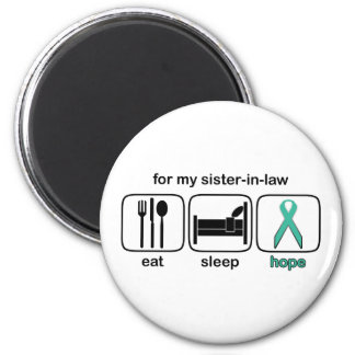 Sister-in-law Eat Sleep Hope - Ovarian 6 Cm Round Magnet