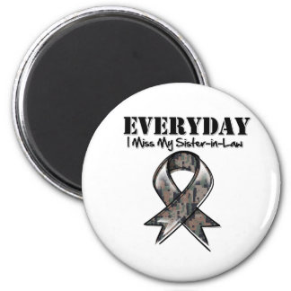 Sister-in-Law - Everyday I Miss My Hero Military 6 Cm Round Magnet