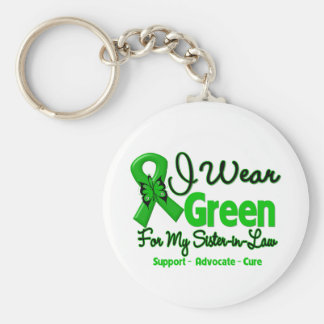 Sister-in-Law - Green  Awareness Ribbon Basic Round Button Key Ring
