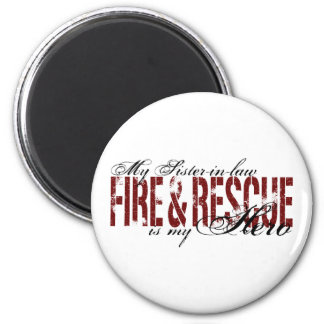 Sister-in-law Hero - Fire & Rescue 6 Cm Round Magnet