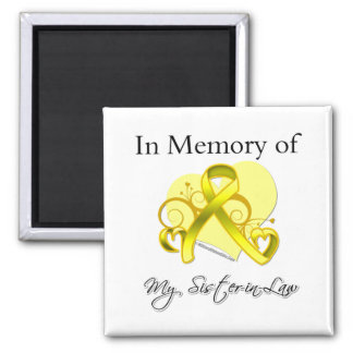 Sister-in-Law - In Memory of Military Tribute Square Magnet
