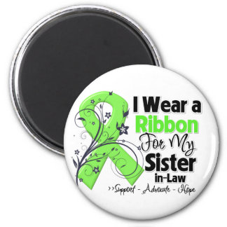 Sister-in-Law - Lymphoma Ribbon 6 Cm Round Magnet