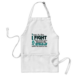 Sister-In-Law Means World To Me Ovarian Cancer Standard Apron