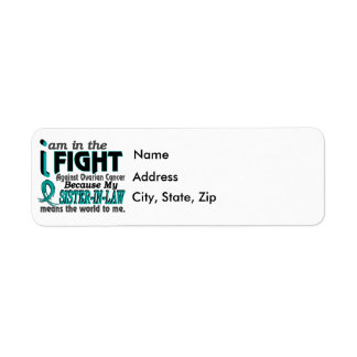 Sister-In-Law Means World To Me Ovarian Cancer Return Address Label
