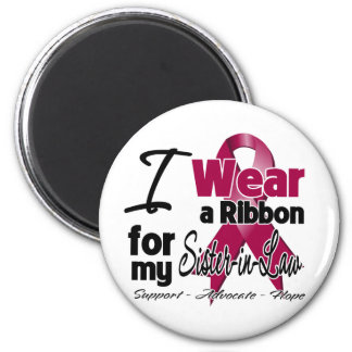 Sister-in-Law - Multiple Myeloma Ribbon 6 Cm Round Magnet