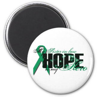 Sister-in-law My Hero - Kidney Cancer Hope 6 Cm Round Magnet