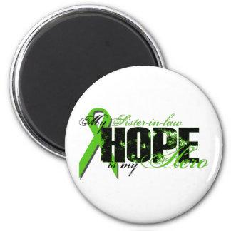 Sister-in-law My Hero - Lymphoma Hope 6 Cm Round Magnet