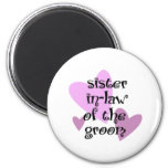 Sister In-Law of the Groom Refrigerator Magnet