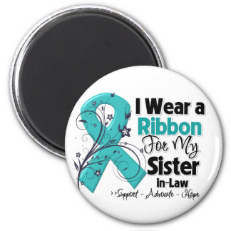 Sister-in-Law  - Ovarian Cancer Ribbon Magnets