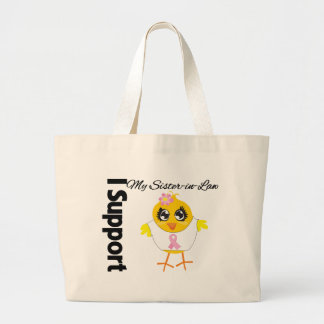 Sister-in-Law Support Breast Cancer Tote Bags