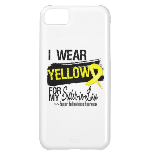 Sister-in-Law Yellow Ribbon Endometriosis Cover For iPhone 5C