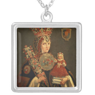Sister Juana, Grand daughter of D. de Cortes Silver Plated Necklace
