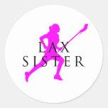 Sister Lax? Round Sticker