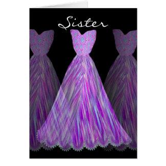 SISTER - Maid of Honor PURPLE WATERFALL Dresses Card