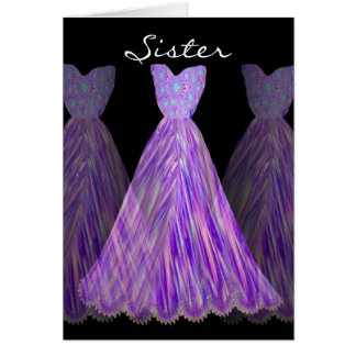SISTER - Maid of Honor SHADES OF PURPLE Dresses Card