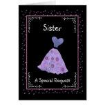 SISTER - Matron of Honour - Purple Flowered Dress