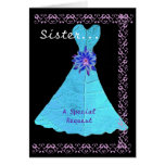 SISTER Matron of Honour Turquoise Gown Lace Trim