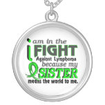 Sister Means The World To Me Lymphoma Pendants