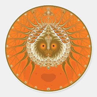 Sister Moon - Orange Round Sticker