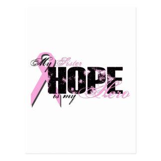 Sister My Hero - Breast Cancer Hope Postcard