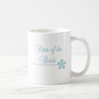Sister of Bride Teal Elegance Coffee Mug