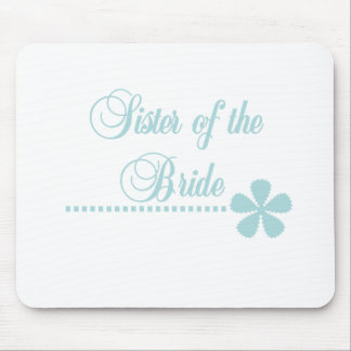 Sister of Bride Teal Elegance Mouse Pad