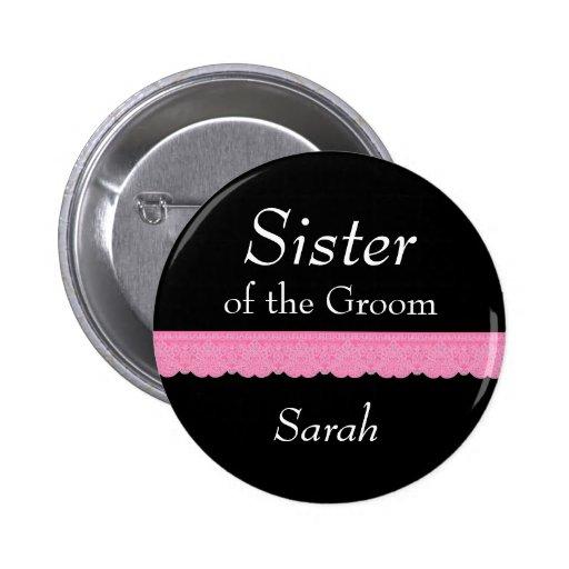 Wedding Gift From Sister Of Groom : SISTER of Groom Pink Lace Wedding Custom Name Y139 Zazzle