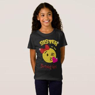 Sister of the Birthday Girl Emoji Birthday Party T-Shirt