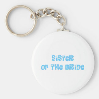 Sister of the Bride Basic Round Button Key Ring