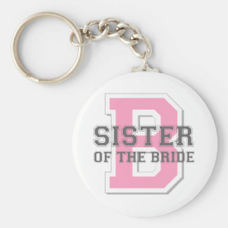 Sister of the Bride Cheer Basic Round Button Key Ring
