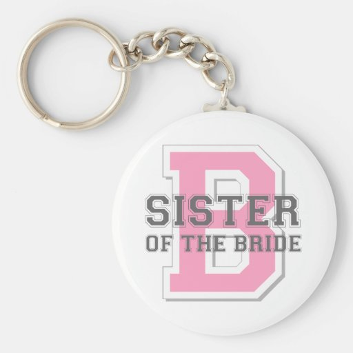 Sister of the Bride Cheer Keychains