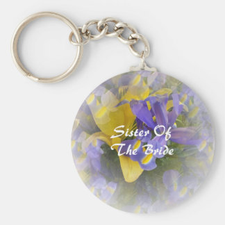 Sister Of The Bride Keychain Irises And Lily