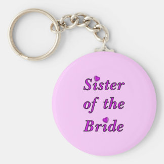 Sister of the Bride Simply Love Basic Round Button Key Ring