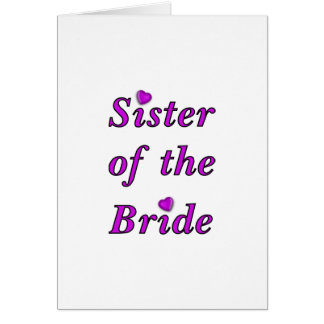 Sister of the Bride Simply Love Card